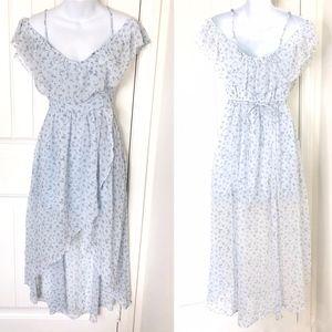 Abercrombie & Fitch Light Blue Hi Lo Chiffon Dress